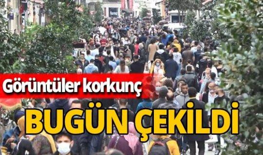 Taksim'de sosyal mesafe sıfır!