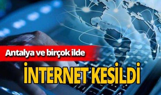 Türkiye'de bazı illerde internet kesintisi yaşandı