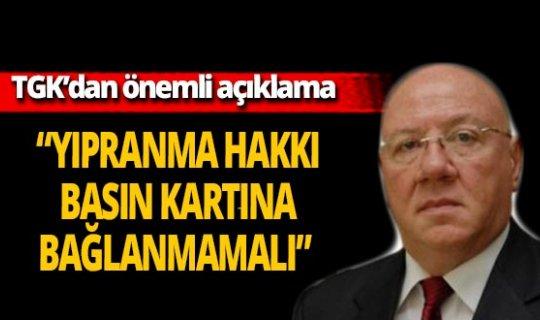"""Türkiye Gazeteciler Konfederasyonu: """"Gazetecilerin yıpranma hakkı basın kartına bağlanmamalı"""""""