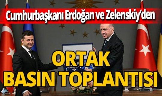 Cumhurbaşkan Erdoğan, Zelenskiy ile basın toplantısı düzenledi