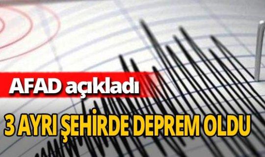 Aydın, Malatya, Çorum'da deprem oldu