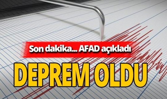 Son dakika... Bursa Gemlik'te deprem oldu
