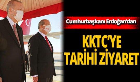 Son dakika! Cumhurbaşkanı Erdoğan KKTC'ye geldi