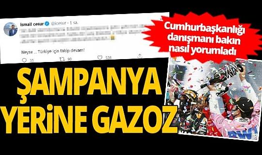 Cumhurbaşkanlığı danışmanı İsmail Cesur'da gazoz açıklaması