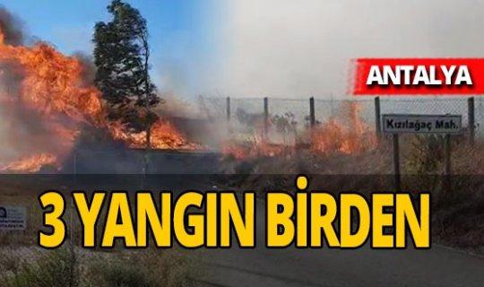 Manavgat'ta aynı günde 3 ayrı yangın!