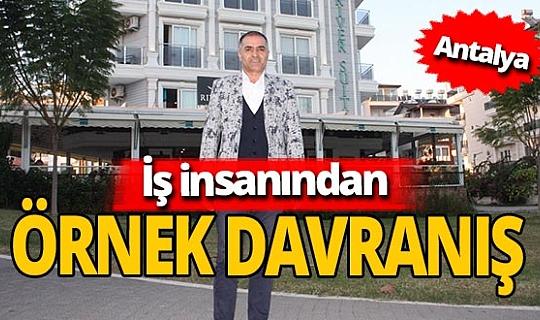 Manavgat'ta iş insanı Taner Demir Durar otelinin kapısını evsizlere açtı