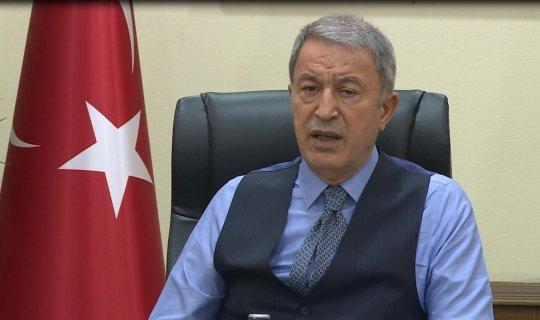 """Milli Savunma Bakanı Hulusi Akar: """"Karşılıklı çalışmamız devam ediyor"""""""
