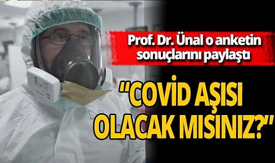 """Prof. Dr. Necmettin Ünal, """"Covid-19 aşısı geldiğinde aşı olacak mısınız?"""" diye sordu! İşte o anketin sonucu"""
