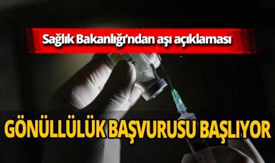 Sağlık Bakanlığı duyurdu! Koronavirüs aşısı için gönüllü olmak isteyenler nasıl başvuru yapacak?