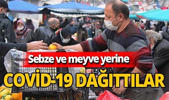 Samsun'da koronavirüs temaslı pazarcı kardeşler satış yaparken yakalandı