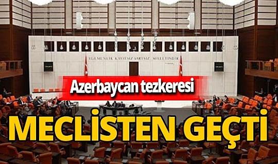 Son dakika! Azerbaycan'a asker gönderilmesine ilişkin tezkere TBMM'de kabul edildi