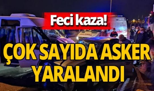 Son dakika! Kayseri'de servis minibüsü ile otomobil çarpıştı 6'sı asker 8 kişi yaralandı