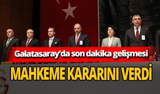 Son dakika... Mustafa Cengiz yönetiminin idari ibrasızlığı ortadan kalktı