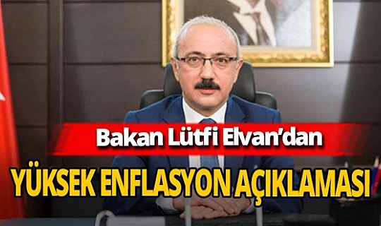 Bakan Lütfi Elvan'dan Kasım ayı enflasyon verileri ile ilgili açıklama