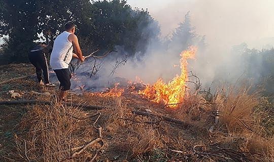 Korkutan yangın!