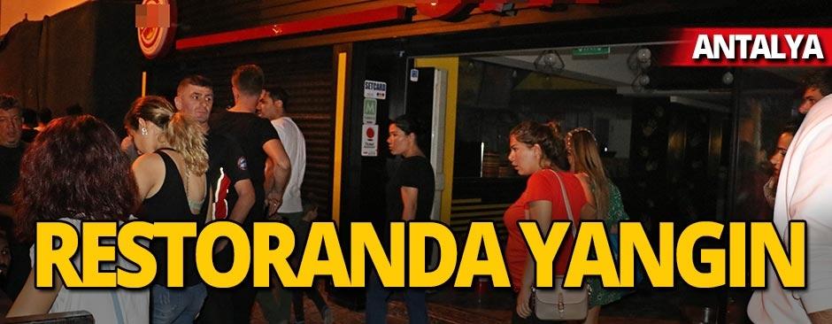 Antalya'da restoran yangını!