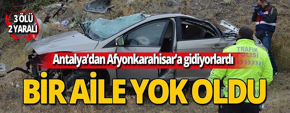Afyonkarahisar-Antalya yolunda feci kaza!