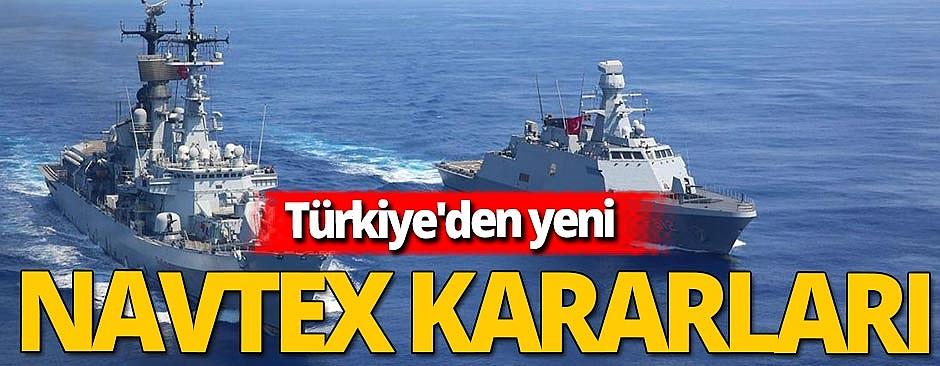 Son dakika! Türkiye'den Ege'de 3 yeni NAVTEX kararı