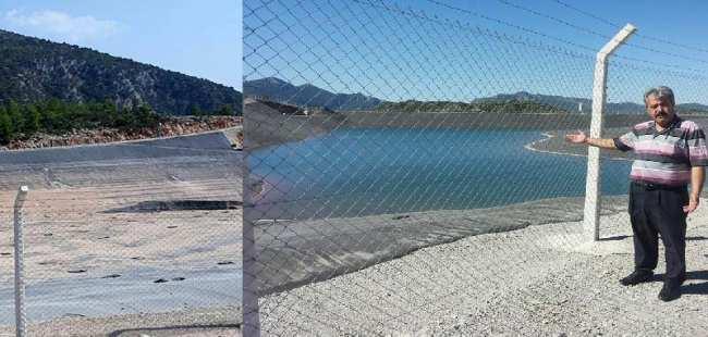 Göletde su kalmadı