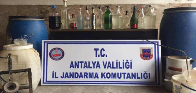 Antalya'da sahte içki baskını