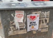 Antalya'da dikkat çeken afiş