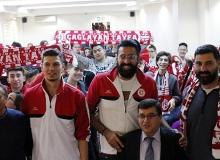 Antalyasporlu basketbolculara yoğun ilgi