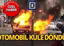 Antalya'da LPG'li otomobil küle döndü