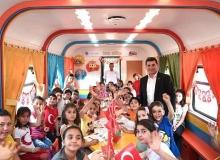 Kepez'den çocuklara tren kütüphane