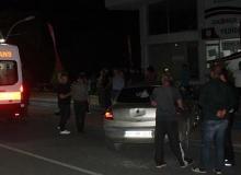 Seyir halindeki otomobile çarptı