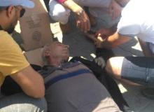 Kazada  motosiklet sürücüsü yaralandı