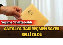 Antalya'daki seçmen sayısı belli oldu