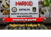 """Antalya'da ele geçirildi """"Değeri tam 1 milyon TL"""""""