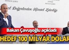 Bakan Çavuşoğlu turizm hedefini açıkladı