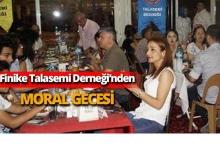 Finike Talasemi Derneği'nden moral gecesi