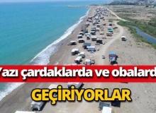 Antalya'da denize sıfır oba geleneği devam ediyor