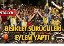 Antalya'da bisikletli eylem