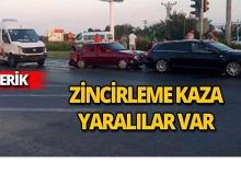 Antalya'da zincirleme kaza: yaralılar var