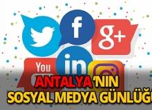 Antalya sosyal medya günlüğü