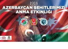 """Antalya'da """"1918 Azerbaycan Şehitlerimizi Anma"""" etkinliği"""