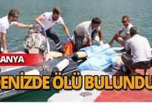 Denizde ölü bulundu