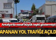 Kapanan cadde trafiğe açıldı