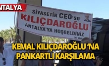Kemal Kılıçdaroğlu'na pankartlı karşılama