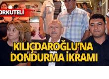 Kılıçdaroğlu'na dondurma ikramı