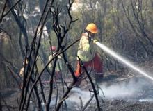 Kumluca'da yangın
