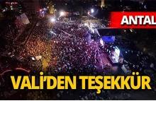 Vali Karaloğlu'dan Antalya'ya teşekkür