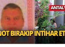 Antalya'da gizemli intihar