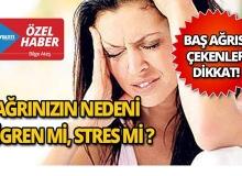 Baş ağrısı bölgeleri ve sebepleri