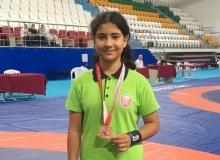 Kepez'in minik güreşçisi Türkiye'de 3'ncü