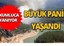 Kumluca'da yangın paniği