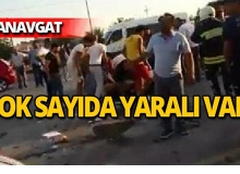 Manavgat'ta feci kaza : Çok sayıda yaralı var